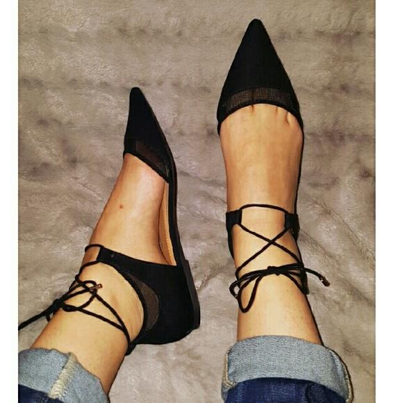 f7477c40c8a Zara Shoes - Zara black mesh d orsay flats