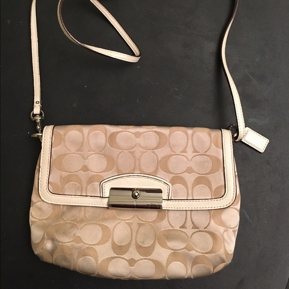 601c44271c22 Coach Handbags - Coach Cream colored Crossbody Purse
