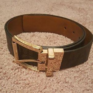 Brown leather Michael Kors Belt