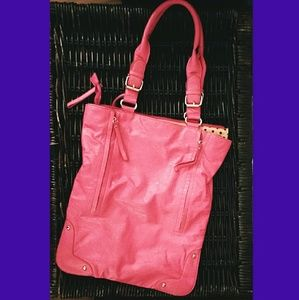 Handbags - Pink Faux Leather Bag