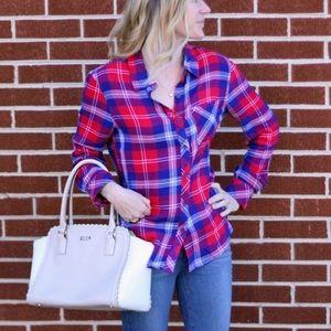 Kate Spade tan and white purse