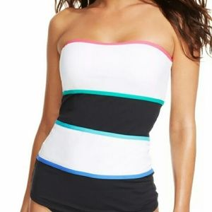Anne Cole Other - New Contrast Trim Tankini by Anne Cole Top.S/Bot.M