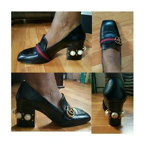 68eeef1eafb Gucci Shoes - Gucci Leather mid-heel loafer
