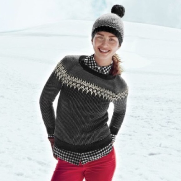 62% off J. Crew Sweaters - J. Crew Fair Isle Merino Wool Patterned ...