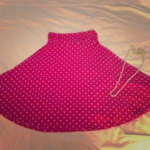 Dresses & Skirts - DONATED NWOT Pink & White Polka Dot Stretch Skirt!