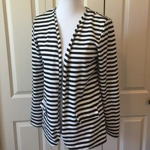 Aina Be Jackets & Blazers - Black and White Open Front Jacket