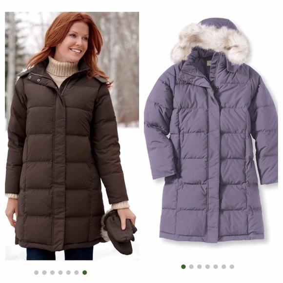 d16093fed Women's LL Bean size M (like L) down long coat