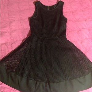 FOREVER21 A-Line dress black mesh and lining S