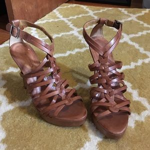 Aldo Leather High Heel Sandal