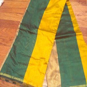 Dresses & Skirts - Green and golden sari