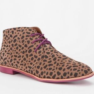 DV by Dolce Vita Shoes - DV by Dolce Vita Leopard Lace-Up Ankle Bootie