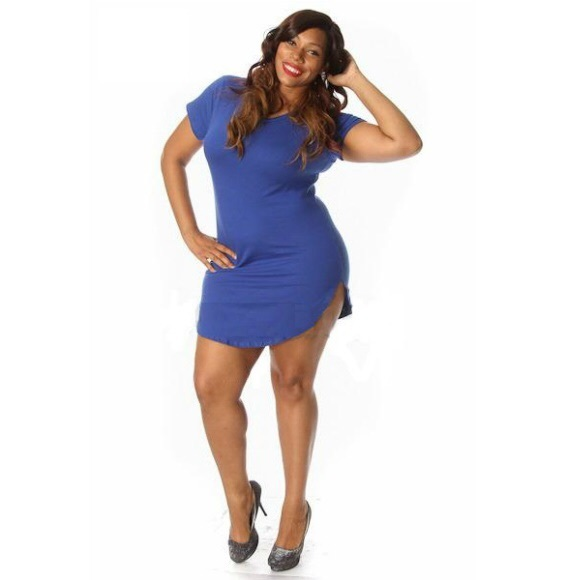 Head2Toez Apparel Dresses | Nwt Plus Size Curved Hem Tunic Bodycon ...