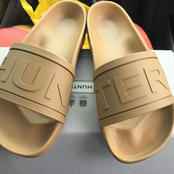 f0f7f18a52cd2 Tan HUNTER Slide In Sandals.