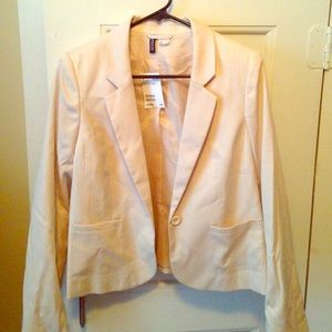 nude H&M blazer size 10