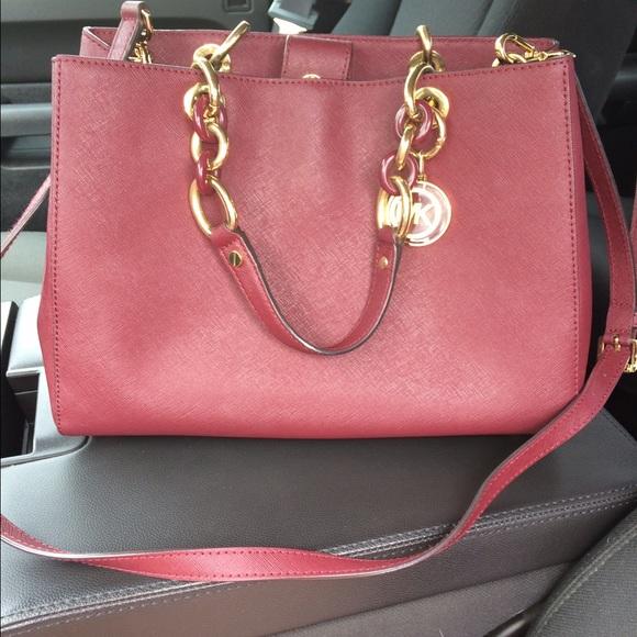 73e5f61d5731 Michael Kors Bags   Maroon Purse Very Good Condition   Poshmark