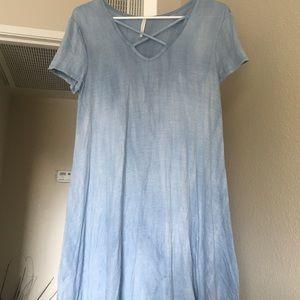 Mini light blue dress - great for a beach day!!!