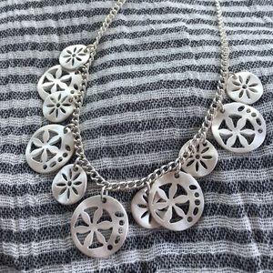 Accessories - Satin finish silver fashion necklace