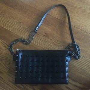 Deena & Oozzy Handbags - Black studded bag