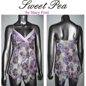 Sweet Pea by Stacy Frati Mesh Trapeze Top