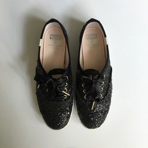 Shoes - Kate Spade glitter Keds sneakers