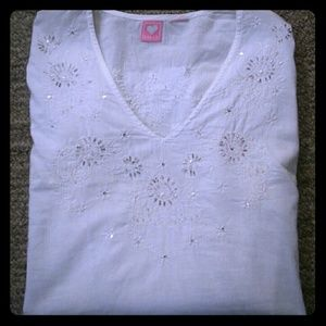 andrew & Co Tops - Snow White, sequined tunic