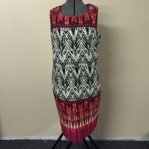 🎉HP🎉 14W- 16W Aztec Tribal Wild Print Dress NWOT