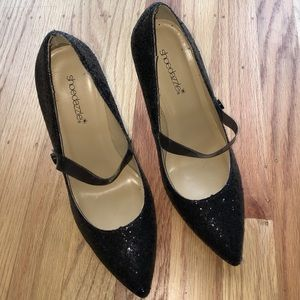 Shoedazzle Shoes - Glitter Mary Jane style stilettos