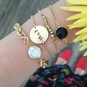The Shine Project Jewelry - Bracelet Love Stack