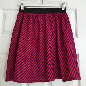 Fab208NYC Re-Vintage red and purple striped skirt