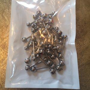 Jewelry - 30 14G assorted Steel Barbells