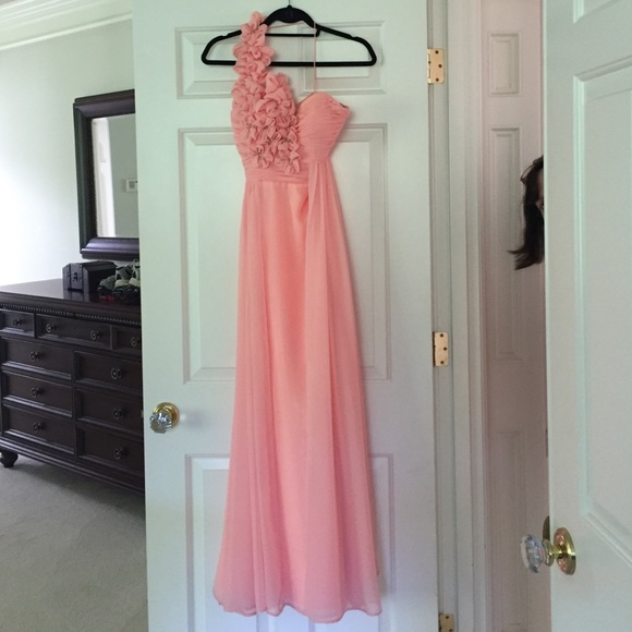 Night Moves Dresses Peach One Shoulder Prom Dress Lowest Price