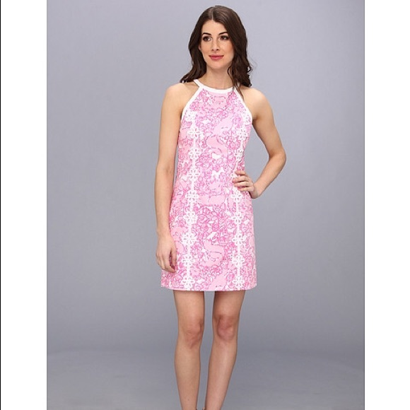 7cf63c295e6 Lilly Pulitzer Dresses   Skirts - Lilly Pulitzer Pearl Halter Shift Dress