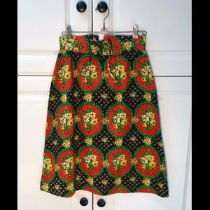 VINTAGE : 1970s Floral High-waisted skirt