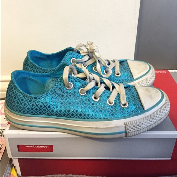 0937da4d194013 Converse Shoes - Turquoise Glitter Converse