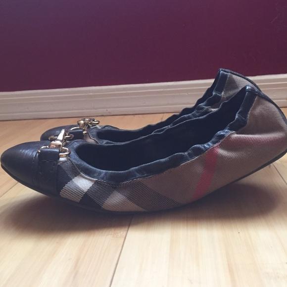 Burberry checked ballerinas popular cheap online 2qEkc77tQ