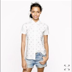 HOST PICK! J.Crew Collection beaded shirt