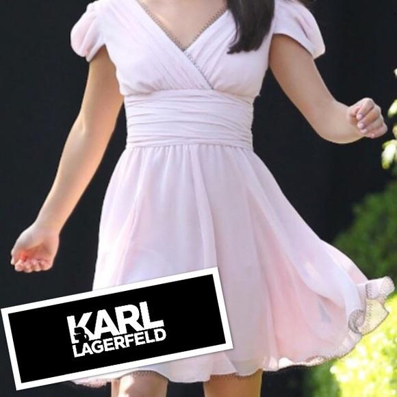 Karl Lagerfeld Dresses Macys Blush Pink Dress Size 8 Poshmark