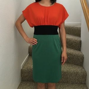 DVF colorblock dress NWOT