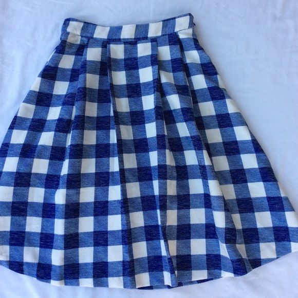 jealous tomato blue gingham skirt from s closet on