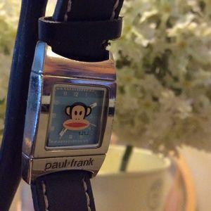 Paul Frank Watch, black strap, logo face
