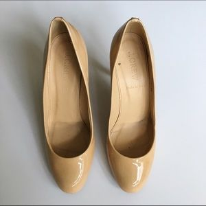 J. Crew Shoes - J.Crew Mona nude patent pumps size 6