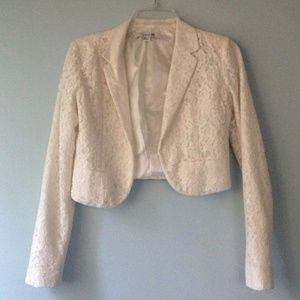 75% off Forever 21 Jackets & Blazers - Forever 21 cream short ...