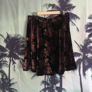 American Rag Dresses & Skirts - Holographic Floral Skater Skirt
