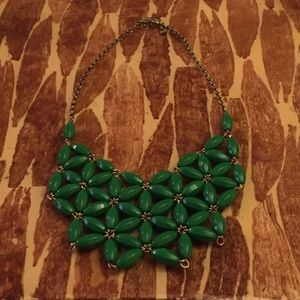 J. Crew Abstract Flower Bib Necklace