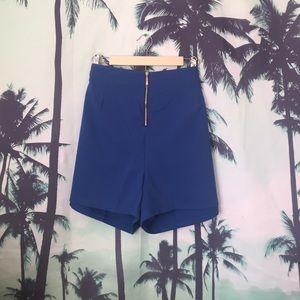 Fashion to Figure Pants - Fashion to Figure Primary Blue Shorts