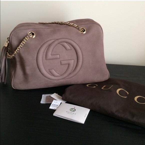 4ed7dd54b84 ❗️SALE🎉HP🎉Gucci Soho Nuback Leather Shoulder Bag