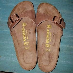 BNIB Birkenstock Madrid leather antique brown NWT