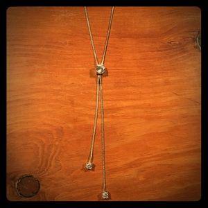 Jewelry - Elegant Adjustable Length Faux Diamond Y-Necklace
