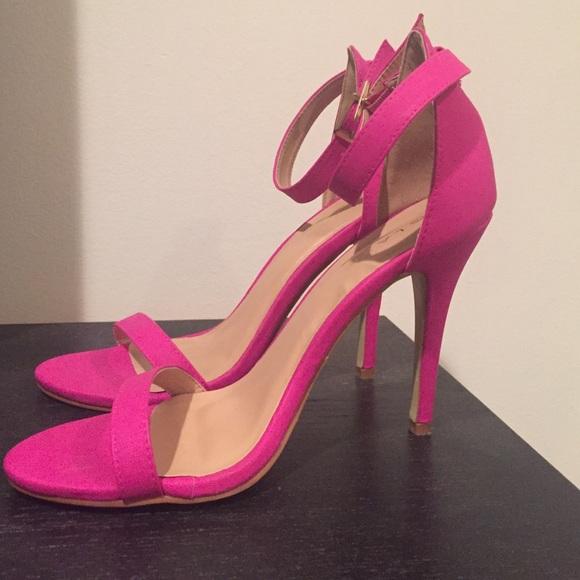 57% off Glaze Shoes - Never worn Galze hot pink ankle strap heels ...
