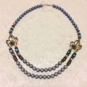 Jewelry - Vintage boho style beaded necklace